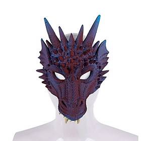 3D Dragon Mask Half Face Mask Teens Halloween Costume Party Cosplay Decor