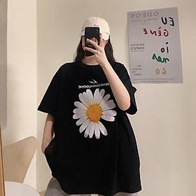 Áo thun nữ form rộng tay lỡ oversize hoa mất cánh peace unisex - thời trang nam nữ hot trend