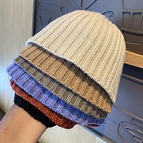 Nón bucket len dệt kim cao cấp - N213
