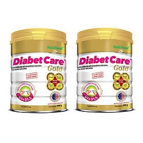 Bộ 2 Lon Sữa Bột NutiFood Diabet Care Gold Lon 900g Cho Người Tiểu Đường, Đái Tháo Đường Và Tiền Đái Tháo Đường