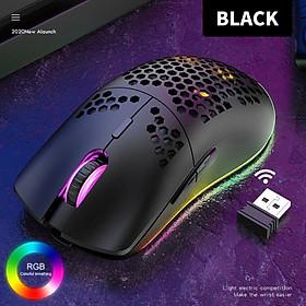 Chuột Gaming không dây Dây XYH80 2.4G Pin sạc 3200DPI LED RGB 16,8 Triệu Màu 7 Phím Macro