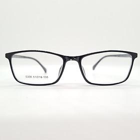 Gọng kính nhựa dẻo Tr90 dáng vuông unisex Hàn Quốc- 0308