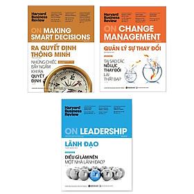 Combo Harvard Business Review (Dành cho nhà quản lý): HBR On Leadership - Lãnh Đạo + HBR On Making Smart Decisions - Ra quyết định thông minh + HBR On Change Management Quản Lý Sự Thay Đổi (Bí kíp quản lý nhân sự tuyệt đỉnh cấp cao) + Tặng kèm Postcard Happy Life