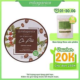 Tẩy Tế Bào Chết Cho Mặt Và Toàn Thân Từ Cà Phê Robusta Natural Coffee & Brown Sugar Scrub MILAGANICS 280g (Hũ)