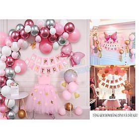 Combo bong bóng trang trí sinh nhật happy birthday đầy đủ đồ phụ kiện cho bé trai bé gái và người lớn CB16