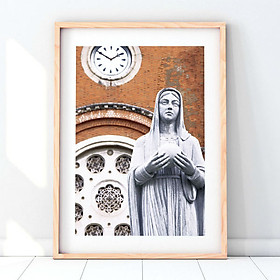 Hình đại diện sản phẩm Tranh Đức Mẹ Maria Khung Gỗ
