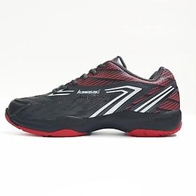 Giày cầu lông Kawasaki K082 chính hãng, da PU đế kép 2 lớp cao su non, siêu bền bám sàn tốt
