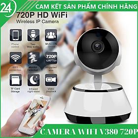 CAMERA WIFI – CAMERA IP V380 2.0MPX HD 720P – Xoay 360°, quay đêm hồng ngoại, chia sẻ nhiều thiết bị