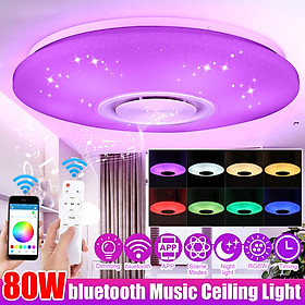 Modern 80W RGB 102LED Ceiling Light Bluetooth Music Speaker Dimmable APP Control with Remote Color Changing 39.5cm 5730SMD Starlight Lamp Home Decor AC220V