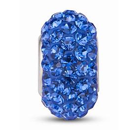 Hình đại diện sản phẩm Hạt charm DIY PNJSilver hình dẹt tròn màu xanh 13283.000-BO