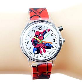 Đồng hồ trẻ em hoạt hình ĐÈN LED 7 MÀU dây silicone cực bền