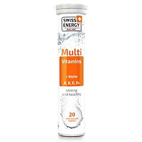 VIÊN SỦI VITAMIN TỔNG HỢP  SWISS ENERGY MULTIVITAMINS & BIOTIN (20 Viên/ tuýp)