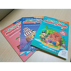 Trọn bộ 3 cuốn sách Bài tập Bổ trợ Monkey Math