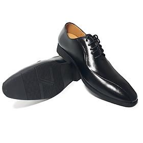 Giày tây nam da bò thật cao cấp, đường may tỉ mỉ đế cao su ép nhiệt chắc chắn có rãnh chống trượt-HS050