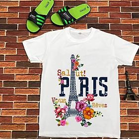 Áo phông in hình tháp eiffel PARIS