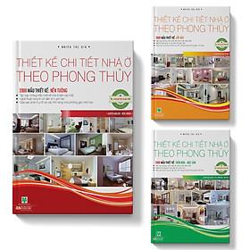 Sách Combo 3 cuốn Phong thủy thiết kế nhà ở (Lối vào, Nền tường, Trần nhà, mặt sàn)