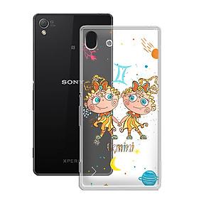 Ốp lưng Dẻo cho điện thoại Sony Xperia Z3 - 01149 8051 GEMINI 01 - In Nổi Họa Tiết - Cung Song Tử - Hàng Chính Hãng
