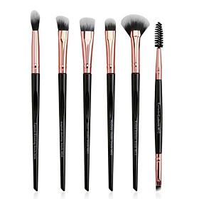 6pcs Eye Makeup Brush Set Eyeshadow Brush Eyebrow Brush Eyelash Brush Professional Makeup Brush