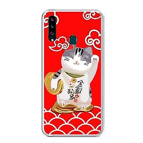 Ốp lưng dẻo cho điện thoại Samsung Galaxy A20S - 0192 MEOTHANTAI01 - Hàng Chính Hãng