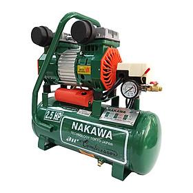 Máy nén khí gia tốc NAKAWA NK25.20, Máy chạy không dầu, Công suất 2.5HP, Bình 20L, Lên hơi siêu nhanh, Hàng chính hãng