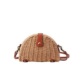 Hình đại diện sản phẩm Túi cói đi biển túi đeo chéo Vintage hình bánh gối