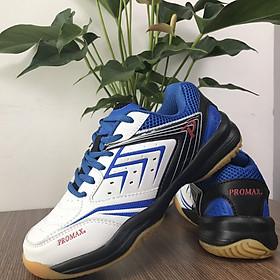 Giày đánh cầu lông Promax PR19003 da PU, đế Cao su non cao cấp dành cho nam và nữ