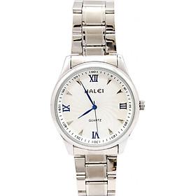 Đồng Hồ Nam Halei HL48900 Dây trắng (Tặng pin Nhật sẵn trong đồng hồ + Móc Khóa gỗ Đồng hồ 888 y hình + Hộp Chính Hãng+ Thẻ Bảo Hành)