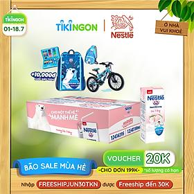 [Chỉ giao HN] [100% TRÚNG THƯỞNG | THẺ CÀO MỖI LỐC] Thùng 48 hộp sữa Nestlé Gấu hương dâu trắng (48x180ml)