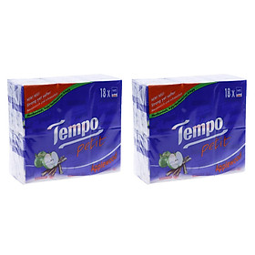 Combo 2 lốc Khăn giấy Tempo Petit Applewood 18 lốc 20x18x7