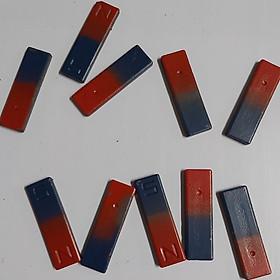 Nam châm thí nghiệm Chữ I 48x16x4mm (Bộ 10 cái)