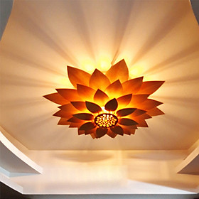 Đèn thả trần Đèn chùm Đèn gỗ Cao cấp DC020