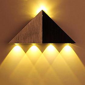 Đèn LED Treo Tường Khối Tam Giác Trang Trí