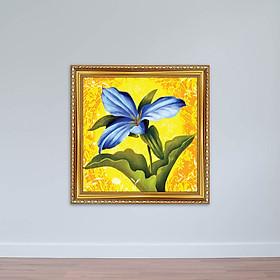 Tranh hoa lá phong cách sơn dầu nghệ thuật có khung W1878