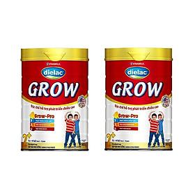 BỘ 2 LON SỮA BỘT VINAMILK DIELAC GROW 2+ 900G (CHO TRẺ TỪ 2 - 10 TUỔI)