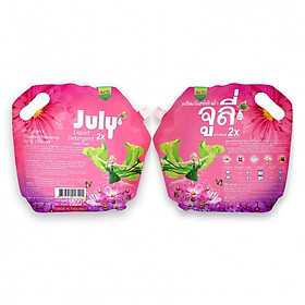 Combo 02 Túi Nước Giặt Xả July 2X Sweet Pink (1800ml)