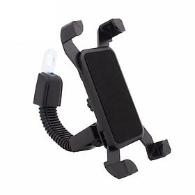 Giá đỡ điện thoại kẹp 4 góc gắn kính chiếu hậu xe máy
