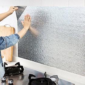 Giấy bạc dán tường nhà bếp chống thấm dầu, thấm nước tiện dụng, cách nhiệt