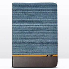 Bao da cho iPad Pro 10.5 inch và iPad Air 10.5 inch hiệu KAKU Brown leather canvas - Hàng nhập khẩu