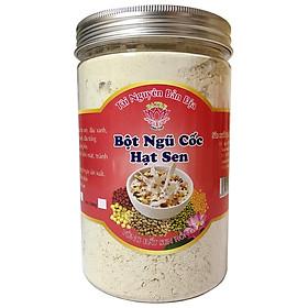 Bột Ngũ Cốc Hạt Sen (Keo 500gram) - BA TRE - Gồm 5 loại hạt: Hạt Sen - Đậu Xanh - Đậu Đỏ - Đậu Nành - Đậu Trắng