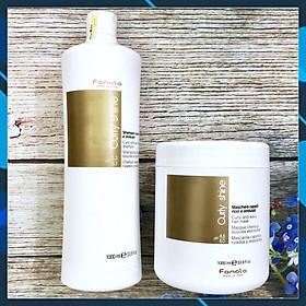 Bộ Gội xả Fanola Curly Shine (Curly & Wavy shampoo) cho tóc uốn xoăn dợn sóng Italy 1000ml