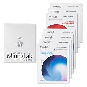 Mặt Nạ Dưỡng Da MiungLab Hộp 7 Miếng Nạ Mix 2 Màu Moisturizing, Anti-Aging & Brightening (23g/miếng)