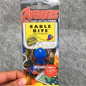 Cable Bite Bảo Vệ Dây Cáp Sạc Điện Thoại Hình Nhân Vật Anh Hùng Avengers