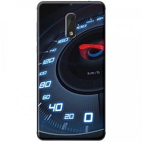 Hình đại diện sản phẩm Ốp lưng dành cho Nokia 6 mẫu Đồng hồ tốc độ xanh