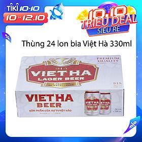Thùng 24 Lon Bia Việt Hà (330ml)