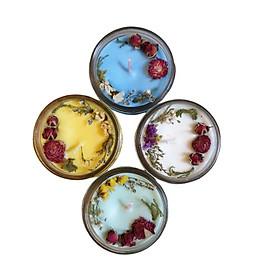 Combo 4 nến thơm tinh dầu 100g: 1  Bạc hà, 1 ngọc lan tây, 1 hương thảo, 1 Vani giúp thư giãn, thơm phòng khử mùi, handmade
