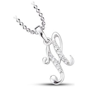 Mặt dây chuyền bạc đính đá PNJSilver chữ H XMXMK000038-BO