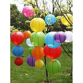 Đèn lồng giấy lụa, nhiều màu sắc, kích cỡ, trang trí nhà cửa, nhà hàng,lễ hội phong cách Nhật Bản