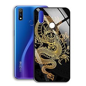 Ốp Lưng Mạ Màu Vàng Ánh Kim cho điện thoại Realme 3 Pro - 0367 8007 DRAGON15 - Rồng dũng mãnh - Hàng Chính Hãng