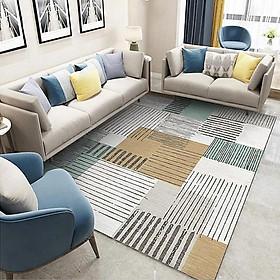 100*150cm Floor Mat Printed Suede Home Living Room Coffee Table Carpet