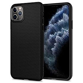Ốp lưng chống sốc Spigen Liquid Air màu đen cho iPhone 11 Pro Max | iPhone 11 Pro | iPhone 11 - Hàng nhập khẩu